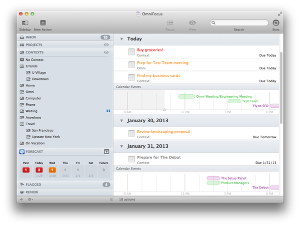 Beta 1 of OmniFocus 2 for Mac