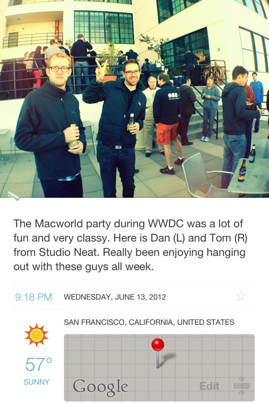 Day One - Macworld WWD Party