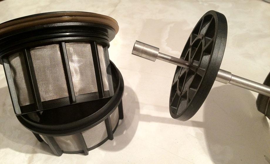 Deconstructed Espro Press filter basket
