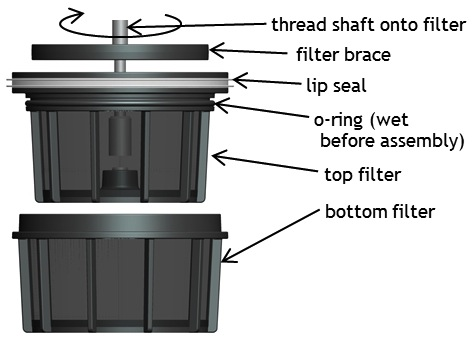 Breakdown of the Espro Press filter (image courtesy of Espro Press website)