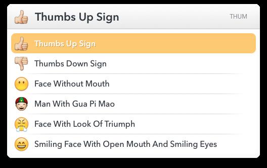 LaunchBar 6 Emoji