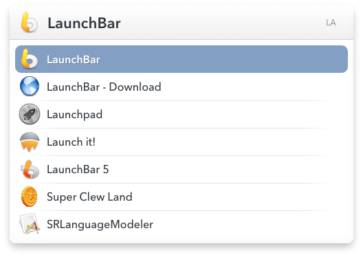 LaunchBar version 6
