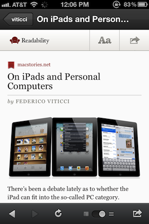 Tweetbot and Readability